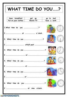 What time do you. English Activities For Kids, Learning English For Kids, English Lessons For Kids, Kids English, Teaching English, Time Worksheets Grade 3, Vocabulary Worksheets, Vocabulary Words, English Vocabulary Exercises