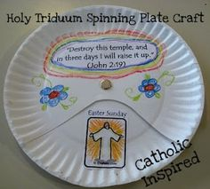Easter Triduum Craft ~ Spinning Paper Plate - Catholic Inspired