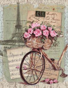 Resultado de imagen para bicicletas con flores de papel