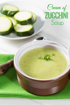 Serve a delicious and healthy bowl of soup. Try this Cream of Zucchini Soup Recipe freezer friendly