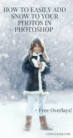 How to Easily Add Snow to Your Photos in Photoshop Learn how to use snow overlays to make your pictures look wintry instantly in this photoshop tutorial! Snow overlays are the perfect way to add snow to photos in Photoshop. Photoshop Overlays, Photoshop Tips, Photoshop Tutorial, Photoshop Elements, Lightroom, Photoshop Lessons, Funny Photoshop, Photoshop Design, Photoshop For Photographers