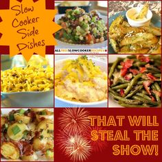 Sometimes, it's the side dishes that make the meal as opposed to the main course. In this delightful free eCookbook, Show-Stealing Side Dishes: 20 of the Best Slow Cooker Side Dish Recipes, you'll receive twenty amazing side dish recipes for your slow cooker.