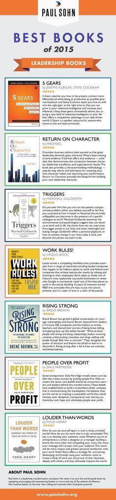 The Best Leadership Books of 2015 [Infographic] | Paul Sohn