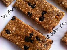 No Bake Peanut Butter Bars #Healthy #Recipe #Homemade #Breakfast