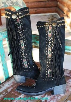 "Brands :: Double D Ranch :: DOUBLE D RANCH~LANE JAW DROPPING "" WARRIOR DREAMS"" BEADED BOOTS! - Native American Jewelry