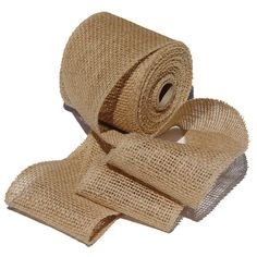 Handmade burlap ribbon. Great for wedding, wreaths and decorations. $10.50.