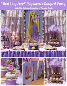 """A Gorgeous Rapunzel Party You Must See! This was truly """"Best day ever"""" for the birthday girl and I'm sure Rapunzel would be proud!"""