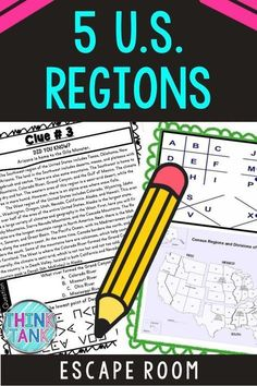 The U.S. Regions Escape Room will take students on a secret mission around the classroom! This escape room has students decode interesting facts about the 5 regions of the United States including the Northeast, Southeast, Midwest, Southwest, West, and sub-regions. Great addition to your geography lesson plans. Geography Lesson Plans, Geography Activities, Middle School History, Upper Elementary Resources, 4th Grade Social Studies, 5th Grade Classroom, Escape Room, Reading Comprehension, Interesting Facts
