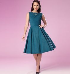 B6094 Misses' Retro Dress | Easy
