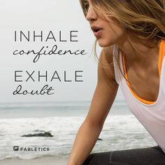 Let go of doubt! | More fitness inspiration & quotes at  blog.fabletics.com