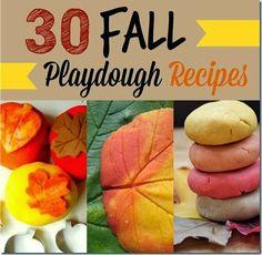 30  Fall Playdough Recipes