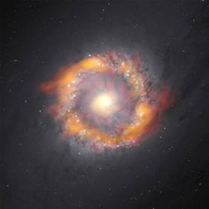 ALMA Observatory Spies Monster Black Hole at Center of a Spectacular Spiral Galaxy 6/18/15