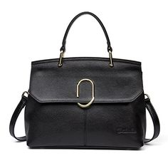 BOSTANTEN Genuine Leather Handbag TopHandle Shoulder Crossbody Bags Soft Purse for Women Black -- You can find out more details at the link of the image.Note:It is affiliate link to Amazon.
