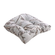 @Overstock - You can enhance the look of your home décor with this stylish square cotton chair cushion. The gray cushion features a lovely vintage blossom dove pattern. The comfortable cushion has a 100 percent cotton cover and 100 percent virgin polyester fill.http://www.overstock.com/Home-Garden/Pillow-Perfect-Vintage-Blossom-Dove-Chair-Cushion/7213429/product.html?CID=214117 $39.99