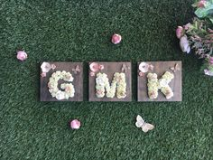 Items similar to nursery letter girl, wood wall letter baby girl, floral nursery wall decor, custom wall decor girl, baby shower girl gift flower wall letter on Etsy Nursery Letters Girl, Nursery Wall Decor, Chic Nursery, Rustic Nursery, Girl Nursery, Nursery Ideas, Bedroom Decor, Godchild Gift, Goddaughter Gifts