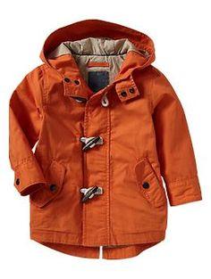 Twill orange parka- Keep your little Clemson fan warm!