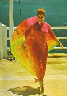 Grace in Monaco...in a colorful & floating maxi with Grecian, floating folds & natural draping....lovely.