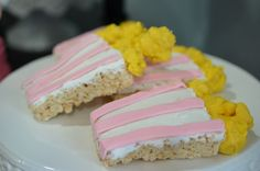Ready To Pop Baby Shower Pink Rice Krispie POPcorn with frosting