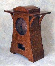 Arts & Crafts Clock - by TJCROSS @ LumberJocks.com ~ woodworking community