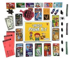 The Mega Prank Kit 35 Funny Pranks and Jokes in a Gift Box -- For more information, visit image link. (This is an affiliate link) Scary Pranks, Good Pranks, Funny Pranks, Cool Gifts For Kids, Gifts For Teens, Kids Gifts, Gift Boxes For Sale, Prank Toys, Pranks For Kids