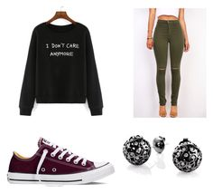 """Untitled #1414"" by marta-moreno-1 ❤ liked on Polyvore featuring Converse, Sonal Bhaskaran, women's clothing, women, female, woman, misses and juniors"