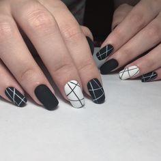 Best Ideas For Nails Black Design Life American Nail Salon, American Nails, Gold Gel Nails, Black Nails, Acrylic Nails, Nail Designs Easy Diy, Black Nail Designs, Punk Nails, Swag Nails