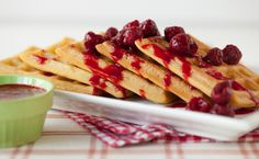 Epicure's Classic Waffles with Raspberry Sauce
