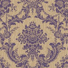 allen   roth Purple/Gold Strippable Non-Woven Prepasted Classic Wallpaper $46.98