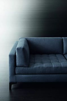 A close up of the modern Prince modular sofa by luxury Italian brand Meridiani.