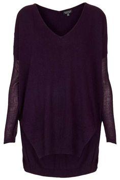 Topshop knitted v-neck, $76; topshop.com