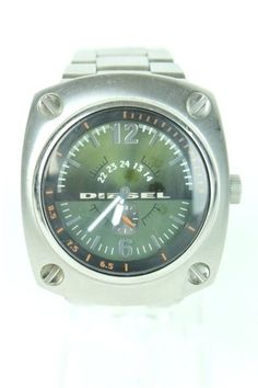 Diesel Men Stainless Steel Analogue Watch Green Dial DZ1200 Preowned 698615036172 | eBay