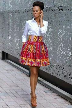 Get super trendy with these jaw-dropping Ankara styles! How cool is it to find a selection of cleverly designed Ankara styles that look fantastic, but which are not going to… African Inspired Fashion, African Print Fashion, Africa Fashion, Fashion Prints, African Prints, African Patterns, African Print Skirt, African Print Dresses, African Attire