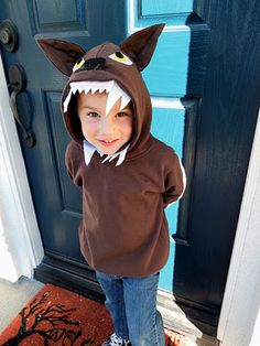 """Little Red Riding Hood and the Big Bad Wolf """"Hoodie"""" Costumes – {Tutorial}"""