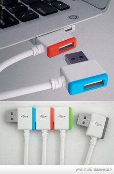 Stackable USB's....awesome! Now No iPod Charching Feuds! #InnovativeMarketing #Riverside #California #Advertising #Marketing #Sales #Success #Jobs