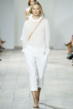 all white, semi-transparent / Michael Kors Spring 2015