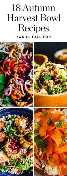 Here are 20 amazing autumn harvest bowl recipes you'll fall for. #fallrecipes #fall #recipes #harvestbowl #healthyrecipes