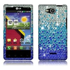 Amazon.com: Blue Waterfall Full Rhinestones for LG Lucid 4G VS840: Cell Phones & Accessories