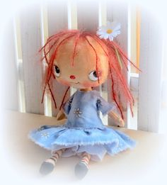 Birdy  darling Raggedy Anne hand made hand painted by suziehayward, $65.00