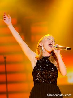 "Hollie Cavanagh, in her finalist interview, told AmericanIdol.com that ""thousands of songs"" have made her cry."