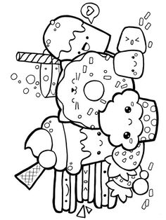 baby alive food coloring pages. Food is the main need of all living things. There are no living things, especially humans, that can survive without food. There are many types of food. Candy Coloring Pages, Cute Coloring Pages, Doodle Coloring, Coloring Pages To Print, Printable Coloring Pages, Coloring Books, Alphabet Coloring, Colouring, Cute Doodle Art