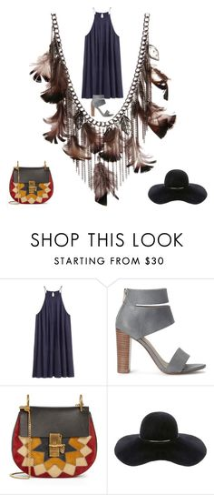 """""""ISHOW Feather Dropping Necklace"""" by ishowyoushowhy on Polyvore featuring Splendid, Chloé and Eugenia Kim"""