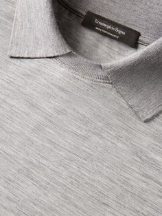 Light grey polo shirt in woolLong sleevesElasticated and ribbed.Discover Light Grey Long Sleeved Polo Shirt and shop online Ermenegildo Zegna Polo Outfit, Mens Flannel Shirt, Collar Styles, Shirt Designs, Menswear, T Shirts For Women, Trieste, Closet Essentials, Urban Style
