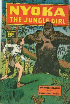 COMIC nyoka the jungle girl 11 #comic #cover #art