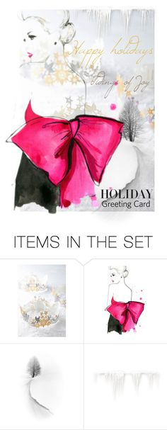 """""""Design Your Holiday Greeting Card"""" by martinka ❤ liked on Polyvore featuring art, holidaygreetingcard and PVStyleInsiders"""