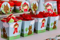 Little Red Riding Hood via Kara's Party Ideas! full of decorating ideas, desserts, cakes, favors,...