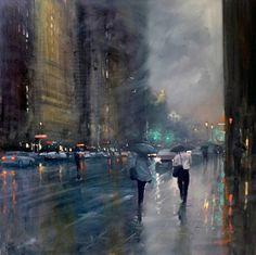 La belleza poética de los días lluviosos capturados por un pintor impresionista