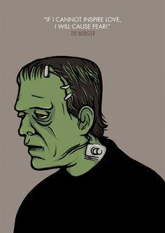 The Monster & Bride  Frankenstein by Vanessa Éffe, via Behance