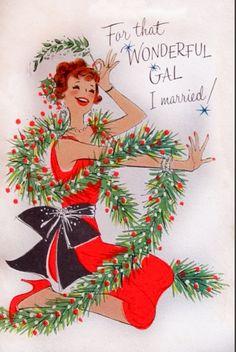 Wonderful gal at Christmas.