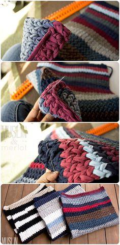 T-Shirt Yarn Knit Rug | FaveCrafts.com
