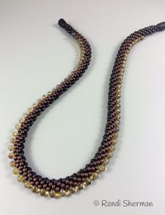 Kumihimo necklace in browns. Randi Sherman